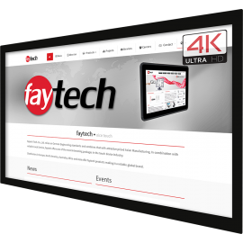 Panel dotykowy 4K przemysł szkoła zewnętrzny 86 cali - Faytech FT86TMCAPHBOB