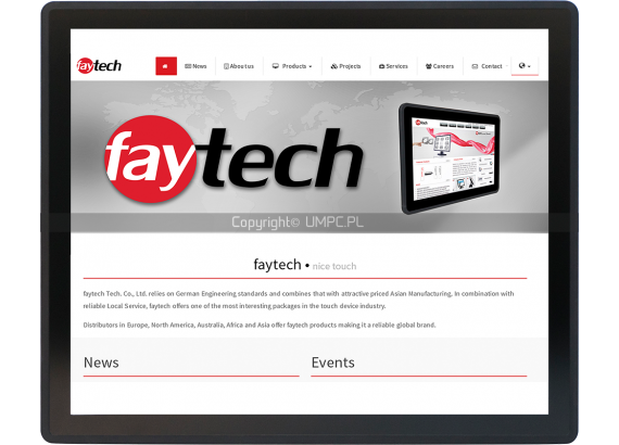 Panel dotykowy Android 6.0 RDP 17 cali - Faytech FT17V40