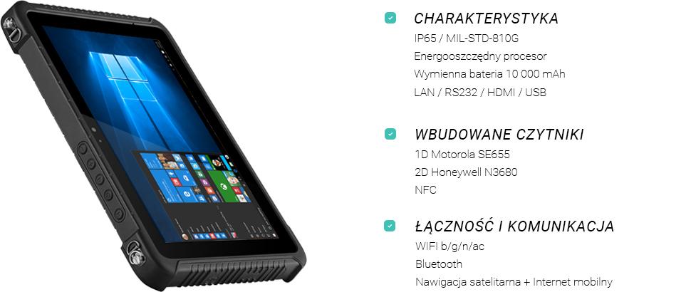 Tablet z czytnikiem kodów kreskowych - Emdoor EM-I16H