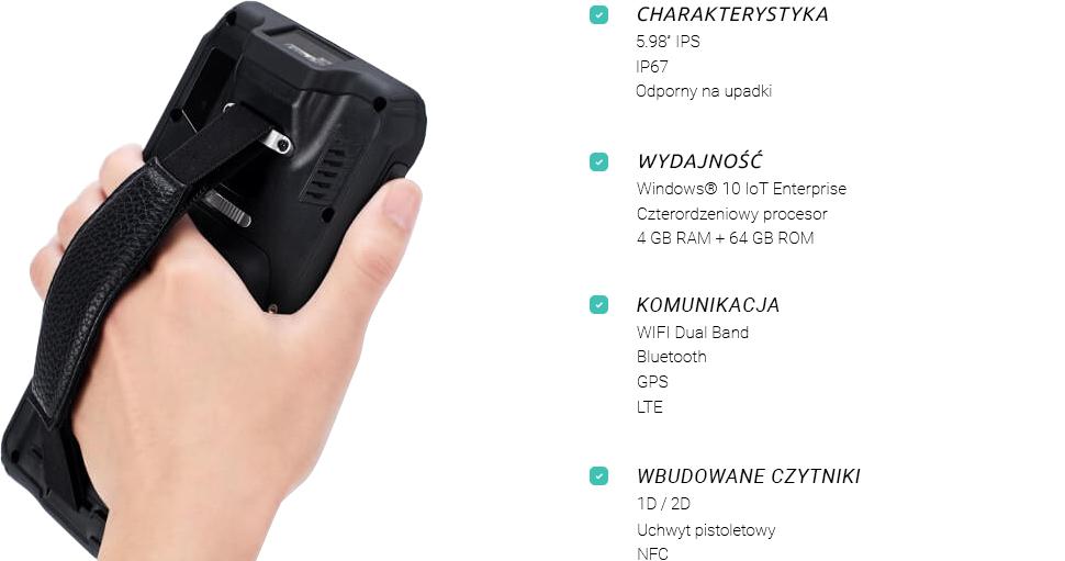 terminal mobilny windows 10 czytnik kodów - emdoor em-i62h