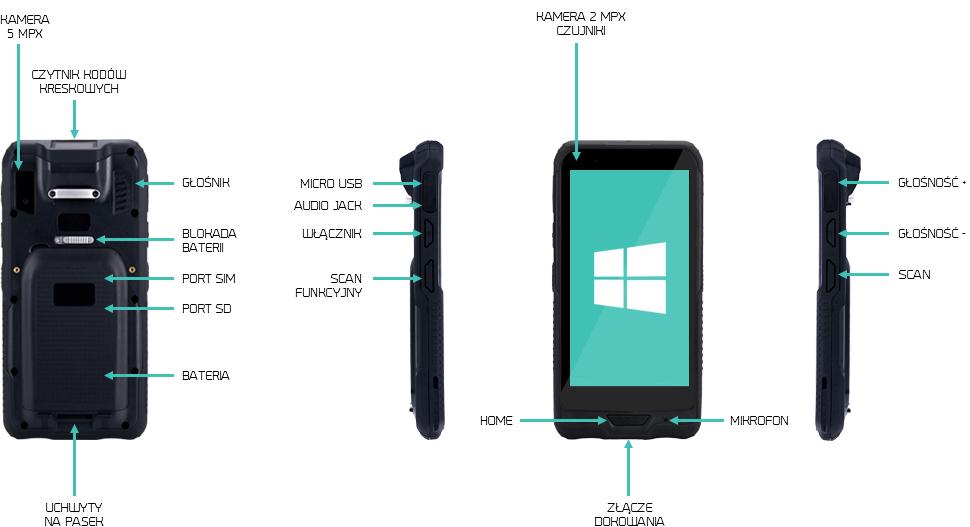 e-przewoz tablet monitorowanie towarów - emdoor em-i62h
