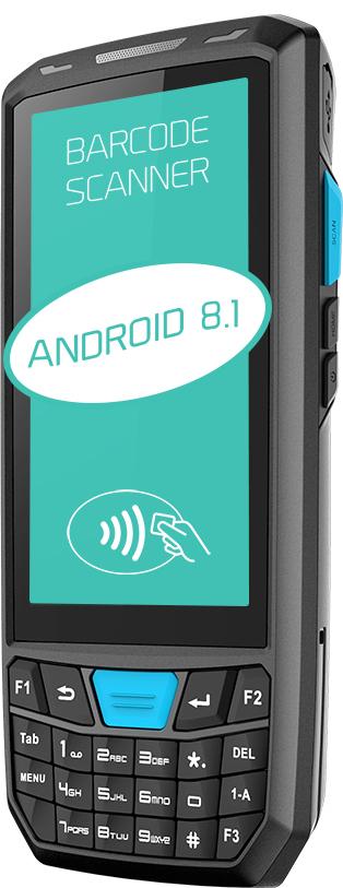 czytnik kodow kolektor danych 1D 2D NFC Android - Lecom T80