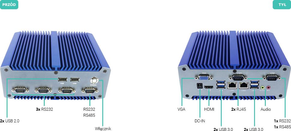Komputer bezwentylatorowy intel core 7 RS485 RS232 - Linker M700