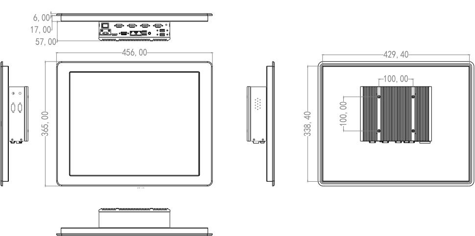 Komputer panelowy na ścianę i do zabudowy - SIlverTouch P190T