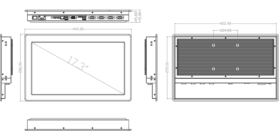 Komputer panelowy przemysł automatyka FULL HD - SilverTouch U173T