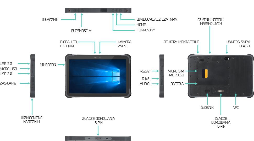 Tablet na produkcję USB 3.0 LAN - Swell I11