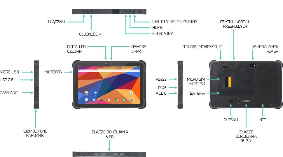 Odporny na uderzenia tablet z androidem - Swell T11