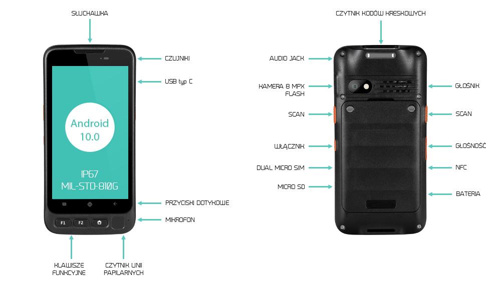 Kolektor danych 2D NFC uchwyt pistoletowy - Swell V700