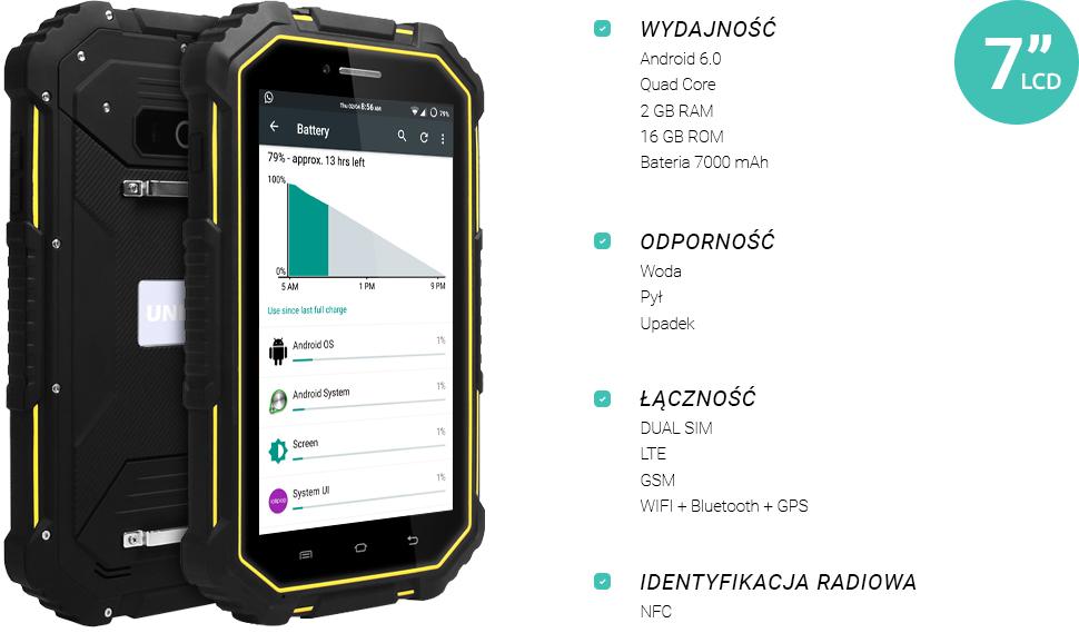 Tablet android 6 2GB RAM przemysłowy UNIWA HV2