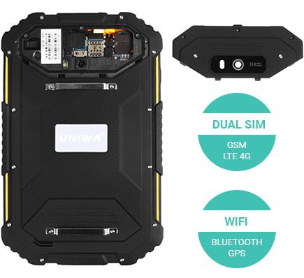 Tablet przemysłowy dual sim lte gsm wodoodporny UNIWA HV2